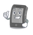 thumbs up ipad isolated with in character vector image