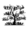 Tree of people sketch for your design vector image