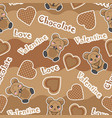 valentine seamless pattern with cute bear vector image vector image