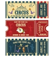 Vintage Circus banner collection Ticket vector image vector image