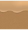 Wafer background vector image vector image