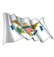 waving flag us virgin islands vector image