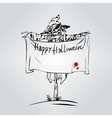 Welcome to Holiday Halloween Scarecrow vector image