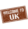 welcome to uk stamp vector image vector image