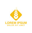wheat agriculture logo designs inspiration vector image vector image
