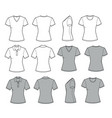 womens t shirt for template in front back vector image