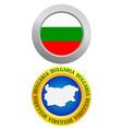 button as a symbol of Bulgaria vector image