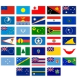 Flags of Australia and Oceania vector image