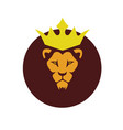 african lion king logo vector image vector image