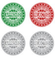 approved rejected rubber stamp