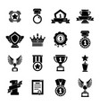 awards medals cups icons set simple style vector image vector image