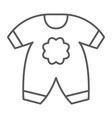 baby clothes thin line icon kid and clothing vector image vector image