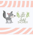 baby shower card with cute dog vector image vector image