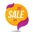 big sale label price tag banner sticker badge vector image vector image