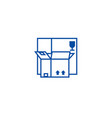 boxes line icon concept boxes flat symbol vector image vector image