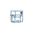 boxes line icon concept boxes flat symbol vector image