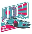 Burnout car Japanese drift sport JDM