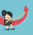 businesswomen changing direction stock vector image vector image