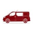 car silhouette - van vector image vector image