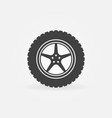 car wheel with disc concept icon vector image vector image