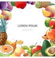 cartoon healthy food colorful template vector image vector image