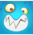 cartoon monster face isolated vector image