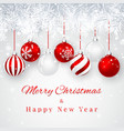christmas and new year background with red vector image