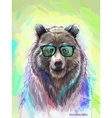 Colorful bear Bright poster