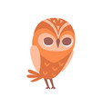 cute funny cartoon owlet bird character vector image vector image