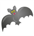 cute hand drawn bat isolated on white background vector image