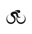 Cycling Biking monochrome on white background vector image