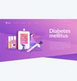 diabetes mellitus landing page concept vector image vector image
