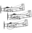 douglas ad-1 skyraider vector image vector image