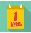 First april calendar icon flat style vector image vector image