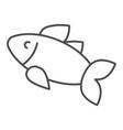 fish thin line icon food vector image vector image