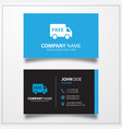 Free shipping truck icon business card template