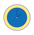 full color circle wall clock time object vector image
