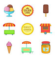 gum icons set cartoon style vector image vector image