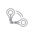 handcuffs line icon concept handcuffs vector image vector image