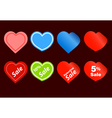 Happy valentine sale stickers vector image vector image