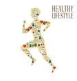 Healthy lifestyle design bodycare icon Colorful vector image vector image