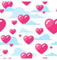 hearts seamless pattern valentines day background vector image vector image