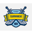 Ice hockey winter sport tournament logo vector image vector image