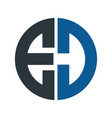 letter ed logo design vector image vector image