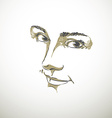 Monochrome portrait of delicate good-looking vector image vector image
