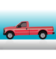 Pick-up truck red vector image vector image