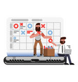 planning and organization helpers on phone vector image vector image