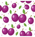Plums seamless pattern plum endless background