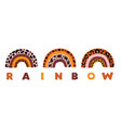 poster with three rainbows leopard vector image vector image