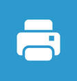 printer icon white on the blue background vector image